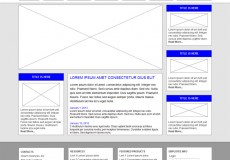 Wireframe for website project